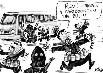 Moir Cartoon on bus Low-res